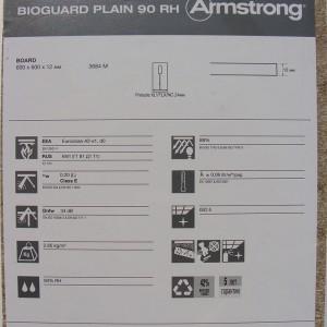 Фотография подвесной плиты Армстронг Биогард Плейн 90