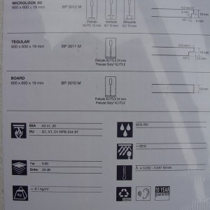 Фотография подвесной плиты Армстронг Дюна ДБ