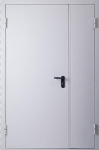 металлические двери двухстворчатые противопожарные